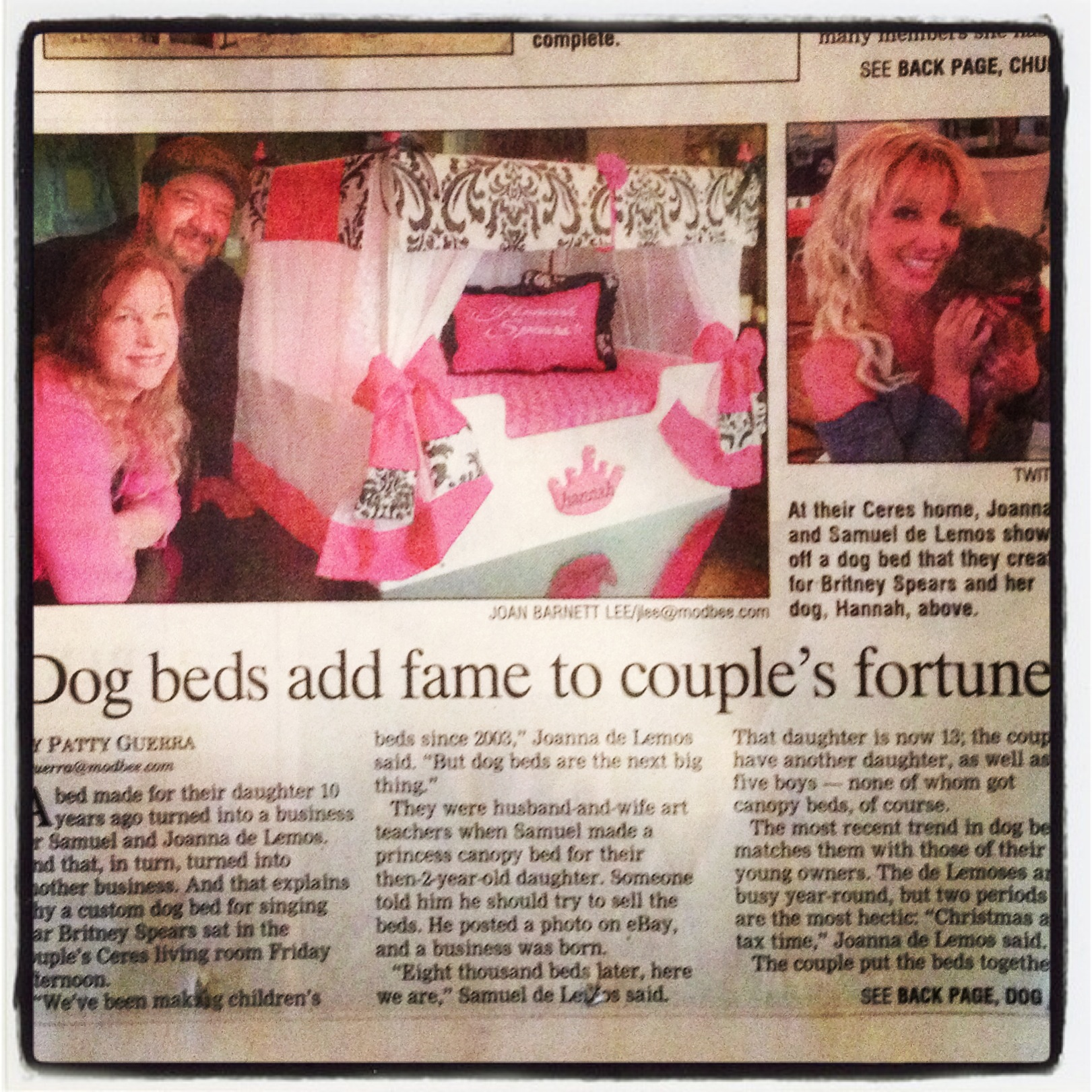 More News Coverage; Hannah Spears Bed