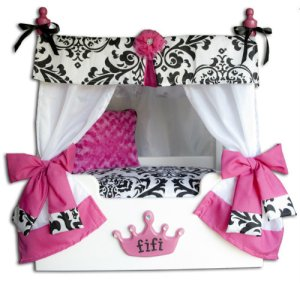 "Pink ""Bella"" Canopy Dog or Cat Bed"